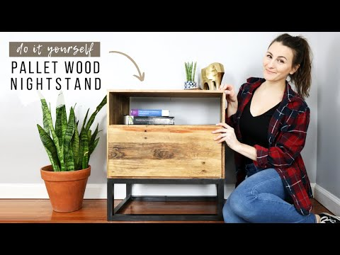 DIY Pallet Wood Nightstand | How To Make A Side Table