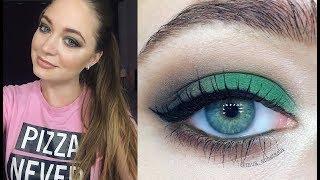 Новогодний макияж: зеленые тени / косметика из масс-маркета: видео-урок