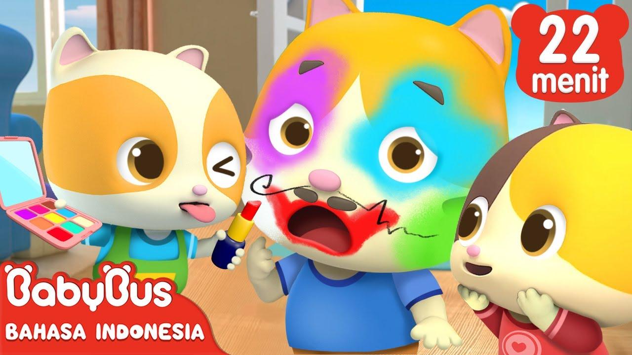 Bayi Kucing Menggambar Di Wajah Kucing Ayah   Lagu Anak Indonesia   BabyBus Bahasa Indonesia