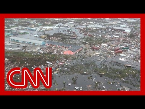 See first aerial footage of devastation in the Bahamas