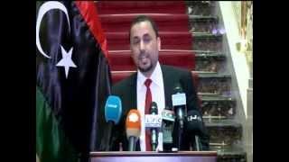 مؤتمر صحفي للسيد النائب الثاني لرئيس المؤتمر الوطني العام صالح المخزوم