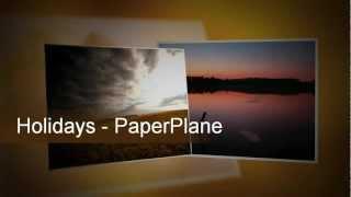 Reise Diashow Fotos auf DVD Vorlage Nero Video Vision Kwik BD Blu-ray AVCHD Papierflieger PaperPlane