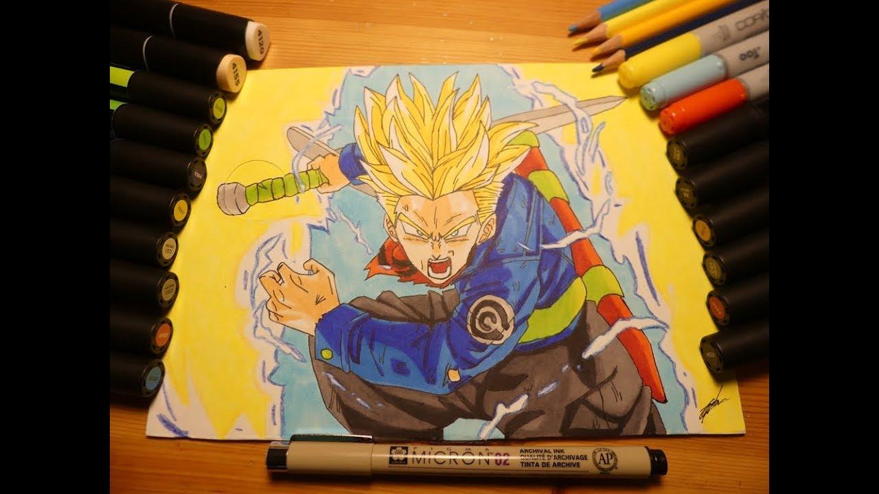 Drawing Trunks Du Futur Super Saiyan Dbs Petit Dessin Manga