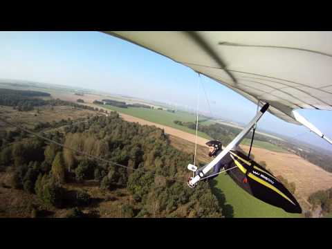 Oct. 5th, 2014 - Hangglider Winch Towing - Windshear at Takeoff and Trouble Finding the Drogue Chute