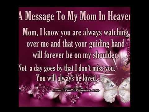 happy birthday in heaven mom youtube