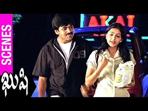Pawan Kalyan Goes For a Walk With Bhumika  | Kushi Movie | Ali | SJ Surya | Mani Sharma