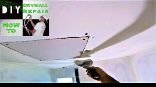 How to Patch a Drywall Hole (Part 2) Drywall Finishing the Drywall Patch-Drywall Taping w/ FibaFuse