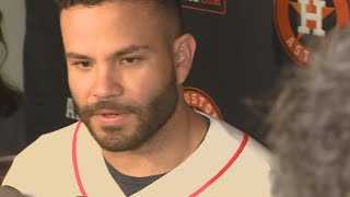 Astros' Jose Altuve talks cheating scandal, wearable devices allegations