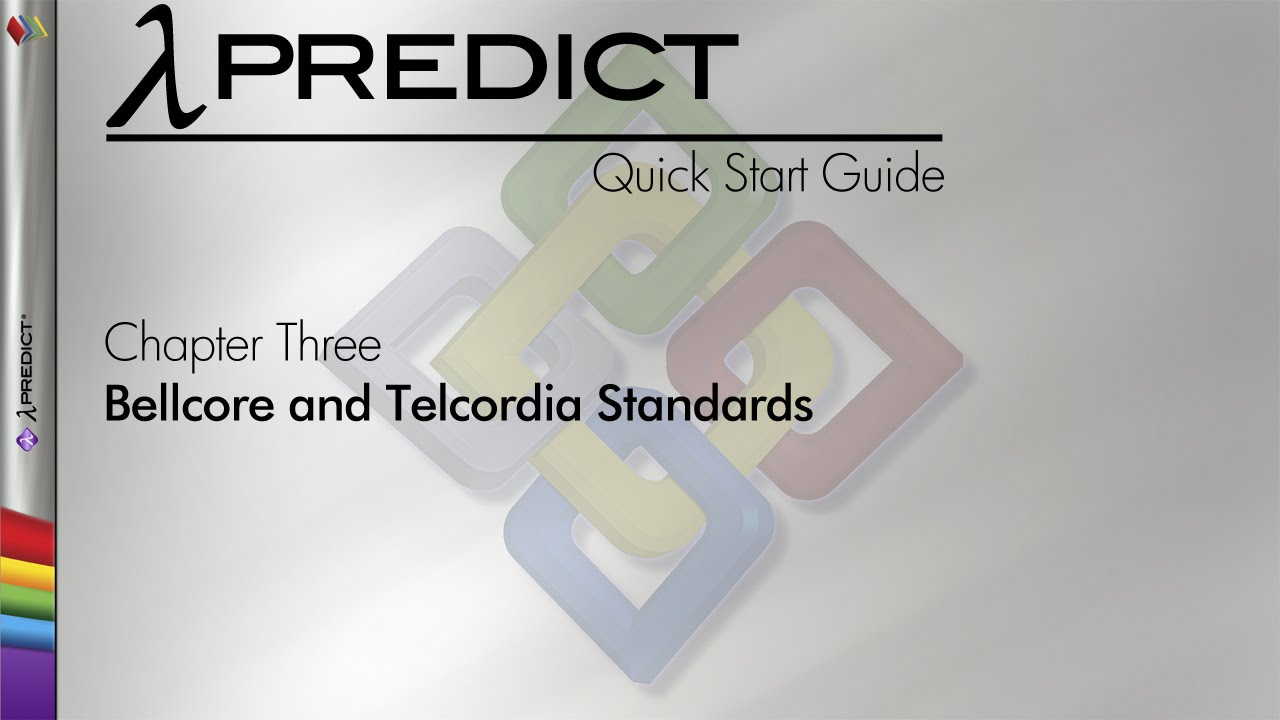Lambda Predict 9 Quick Start Guide Chapter 3: Bellcore and ...