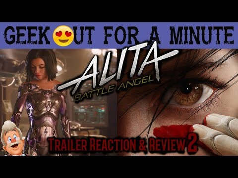 Alita Battle Angel Trailer 2 Reaction - Geek Out For A Minute - GOFAM