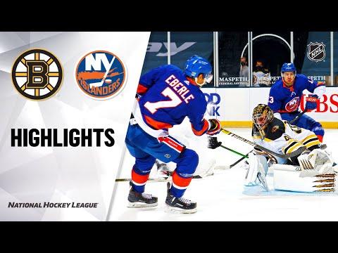 Bruins @ Islanders 2/25/21   NHL Highlights