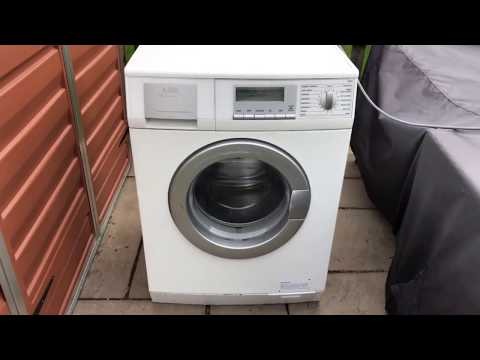 How To Use Service Mode In The AEG L86810 Washing Machine