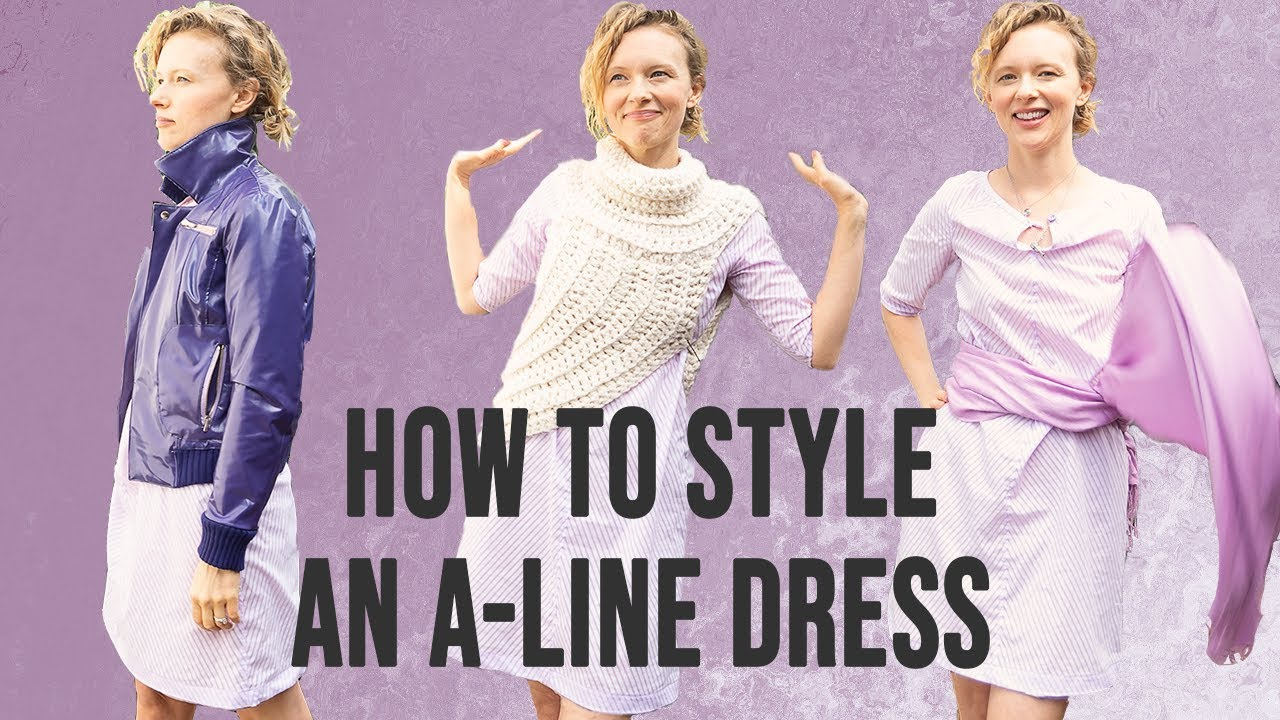 How to style an a line dress: Sew Over It Lulu - YouTube
