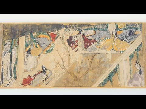 tale-of-genji-scroll---leafing-through-the-facsimile-edition