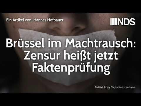 Brüssel im Machtrausch: Zensur heißt jetzt Faktenprüfung | Hannes Hofbauer | NachDenkSeiten-Podcast