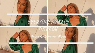 EVERYDAY MAKEUP - getting ready for insta pics | Luisapiou