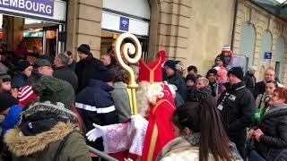 Saint-Ncolas arrive à Luxembourg