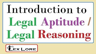#CLAT2020 #LexLore 1.- Introduction to Legal Aptitude / Legal Reasoning ; Basics of Legal Terms