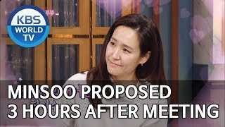 Minsoo proposed 3 hours after we first met [Happy Together/2019.06.13]