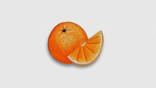 How to draw orange Step by step (very easy)
