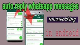 AutoResponder for WhatsApp NEW Beta_ auto reply whatsapp messages_ new whatsapp tricks