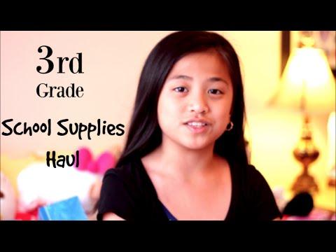 Third Grade Back To School Supplies Haul | 2016