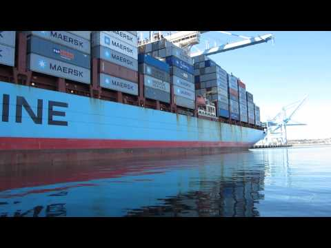 Gerd Maersk at Pier 400 in port of Los Angeles