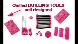 Quilled QUILLING TOOLS - self designed (workshop-video)