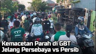 Persebaya Vs Persib Bandung, Kemacetan Parah Terjadi di Luar Stadion Gelora Bung Tomo Surabaya