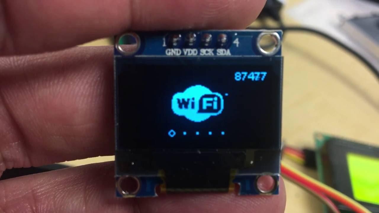 SSH1106 i2c Demo on NodeMCU