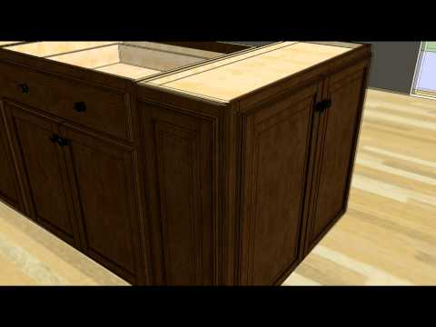 Kitchen Design Tip - Designing an Island with Wall Cabinet Ends