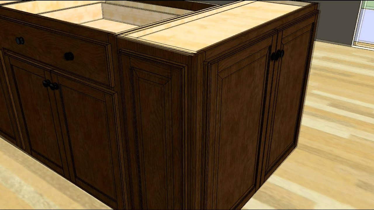 Kitchen base cabinet making - Kitchen Design Tip Designing An Island With Wall Cabinet Ends Youtube