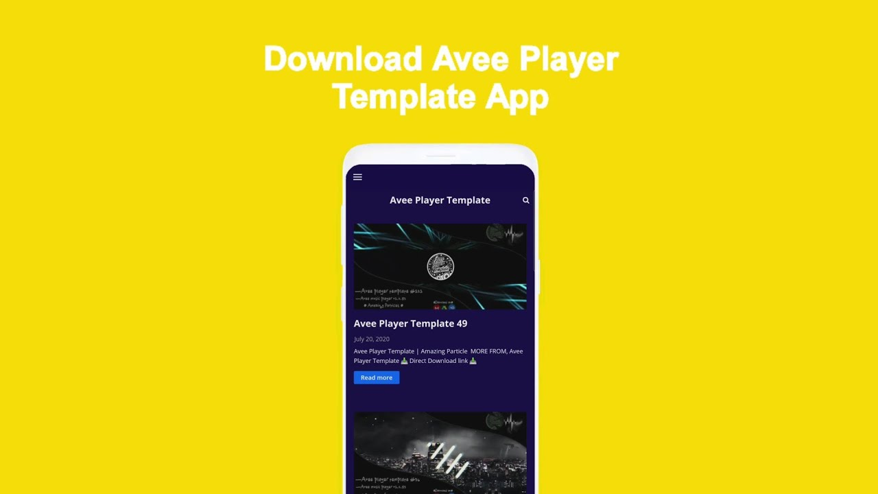 Avee Player Template - High Quality Template's - App