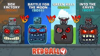 RED BALL 4 - 'VOLUME 1' BOSS vs 'VOLUME 3' BOSS vs 'VOLUME 4' BOSS vs 'VOLUME 5' BOSS