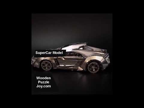 3D metal Puzzle SuperCAR Model! [WPJ]