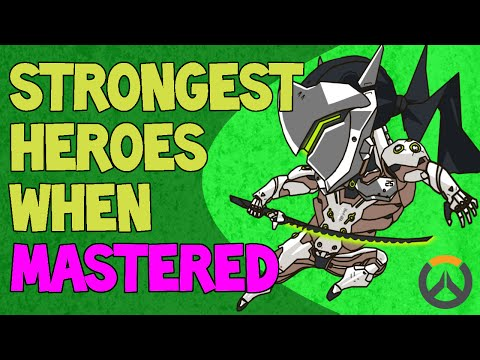 STRONGEST HEROES WHEN MASTERED! PART 1 -  FIGHTERS! (Overwatch)