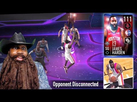 111 OVR JAMES HARDEN CAUSING RAGE QUITS ON PvP! NBA Live Mobile 19 Season 3 Ep. 144