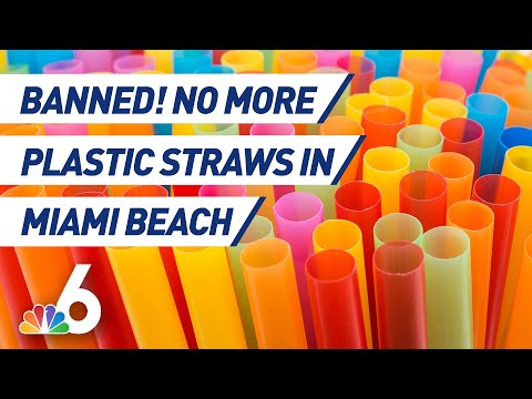 Why Did Miami Beach Ban Single-Use Plastic Straws? | NBC 6