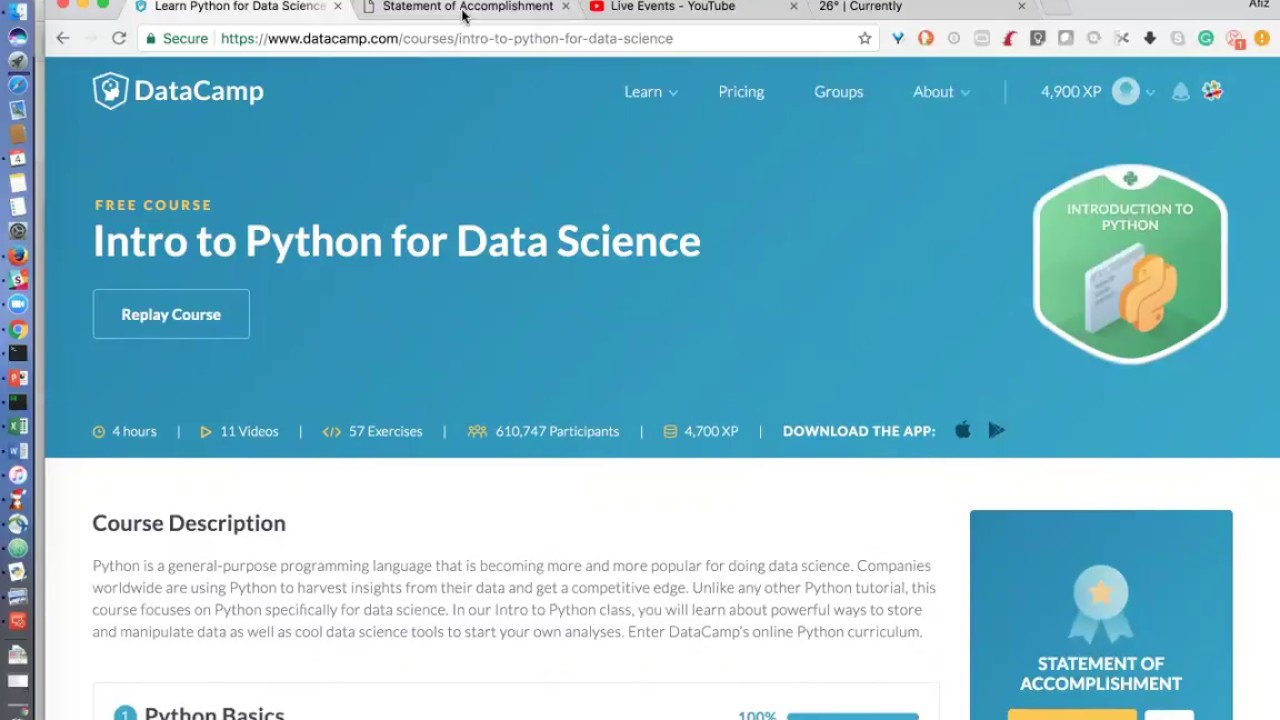 Get Python for Data Science Certification in 2 days