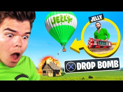 BOMBING In RUST Using A HOT AIR BALLOON! (Troll)