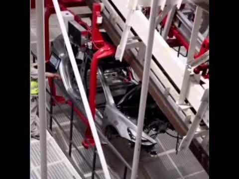 Leaked video shows Tesla Model 3 undergoing production line testing in China