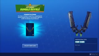 *UNLOCKING* The Fang Saws Pickaxe In Fortnite...!!!