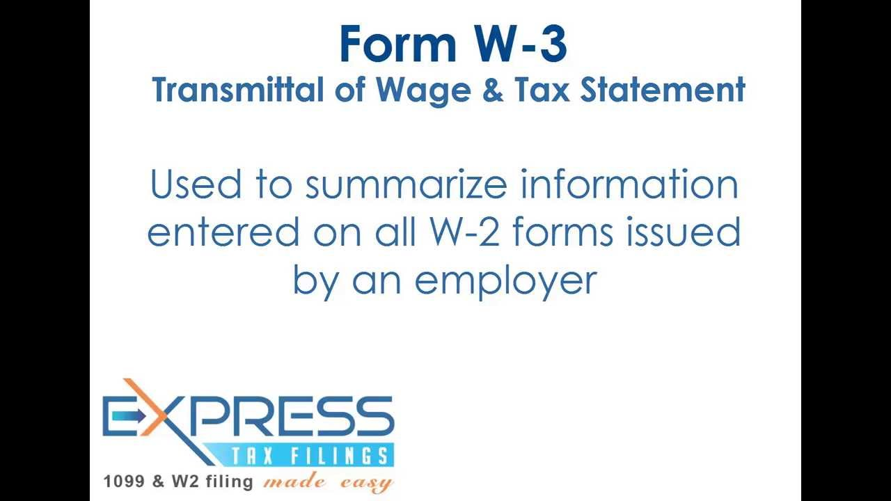 Form W-3 - YouTube