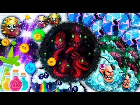 AGARIO MOBILE CANNON SPLITS // INSANE TRICKS // MYSTERY SKINS  // MACRO FEED HACK // NEW RUSH MAP
