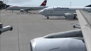 FS2004 Swiss A320 London Heathrow to Zurich Kloten