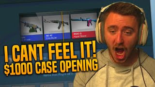 I CAN FEEL IT! (CS:GO $1000 Case Opening - Part 1)