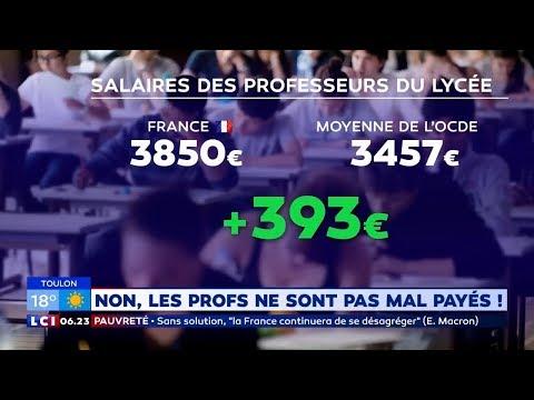 Les Professeurs Français Ne Sont Pas Les Mieux Payés De L'OCDE