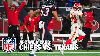 Wild Card - Wild Start! Knile Davis 106-yard Kickoff Return TD | Chiefs vs. Texans | NFL