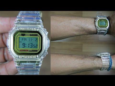 Casio G Shock DW 5035E 7 5th Anniversary GLACIER GOLD UNBOXING