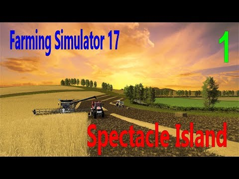 Let's Play Farming Simulator 17 Spectacle Island Ep 1 Removing Trash